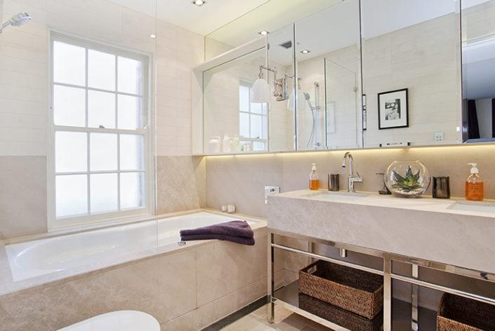 Woolahra custom bathroom by Sydney Beach Homes, custom builders